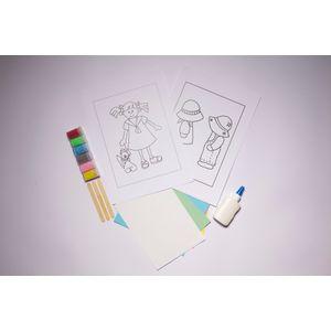 Desenhos-para-Colorir-com-Areia-Menina