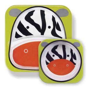 Set-de-Pratos-Zoo-Zebra-Skip-Hop