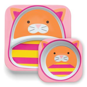 Set-de-Pratos-Zoo-Gato-Skip-Hop