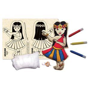 Boneca-de-Pano-para-Costurar-Havaiana