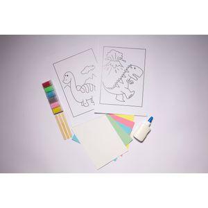 Desenhos-para-Colorir-com-Areia-Dinossauro