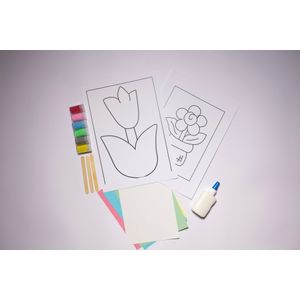 Desenhos-para-Colorir-com-Areia-Flor