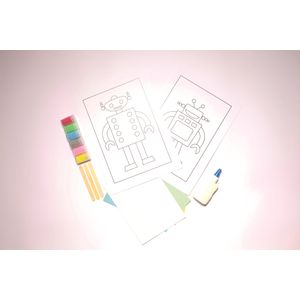Desenhos-para-Colorir-com-Areia-Robo