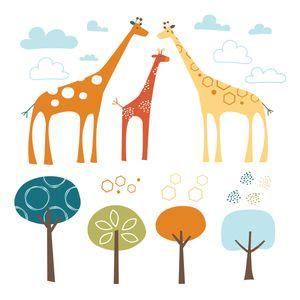 Adesivo-de-Parede-Decorativo-Safari-de-Girafas---Skip-Hop