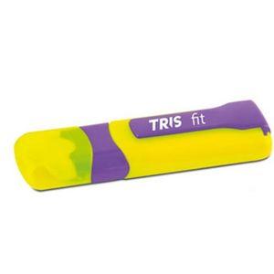 Caneta-Borracha-Fit-Amarelo-e-Roxo-Tris