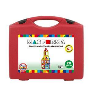 Brinquedo-de-montar--Jogo-Magnetico-Em-Maleta-Vazado-20-Pecas-MagForma